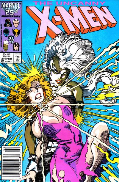 Cover for The Uncanny X-Men (Marvel, 1981 series) #214 [Newsstand]