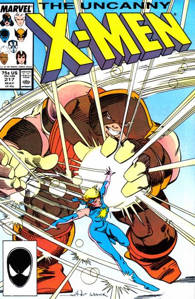 Cover for The Uncanny X-Men (Marvel, 1981 series) #217 [Newsstand]