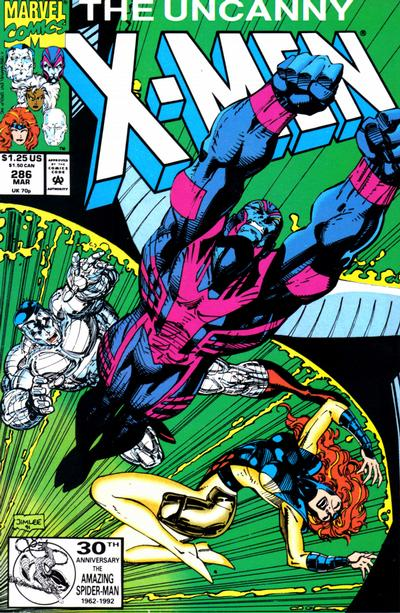 Cover for The Uncanny X-Men (Marvel, 1981 series) #286 [Newsstand]