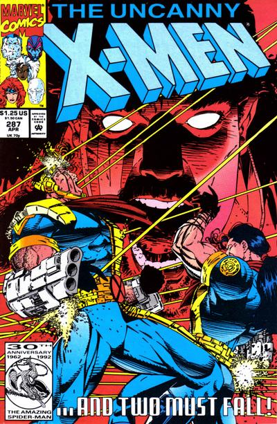 Cover for The Uncanny X-Men (Marvel, 1981 series) #287 [Newsstand]
