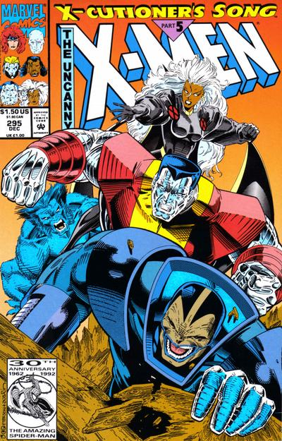Cover for The Uncanny X-Men (Marvel, 1981 series) #295 [Newsstand Polybagged]