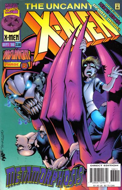 Cover for The Uncanny X-Men (Marvel, 1981 series) #336 [Australian]