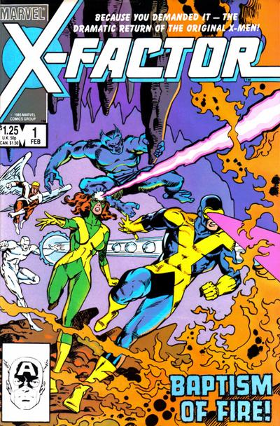 Cover for X-Factor (Marvel, 1986 series) #1 [Newsstand Edition]