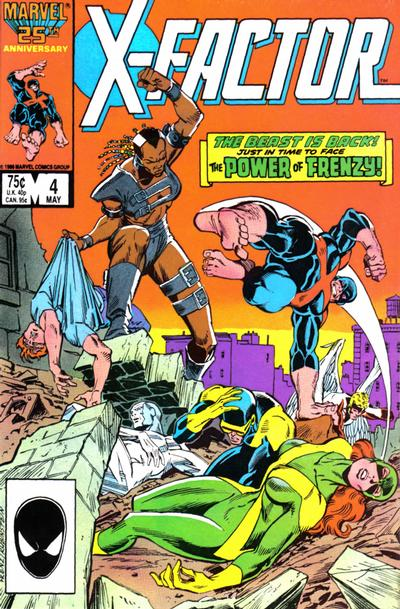Cover for X-Factor (Marvel, 1986 series) #4 [Direct Edition]