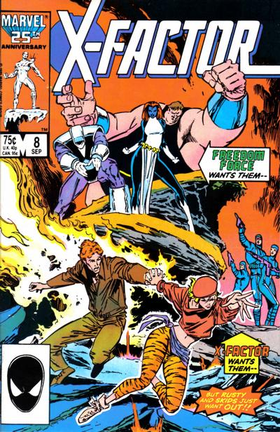 Cover for X-Factor (Marvel, 1986 series) #8 [Newsstand Edition]