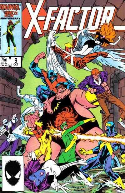 Cover for X-Factor (Marvel, 1986 series) #9 [Newsstand Edition]