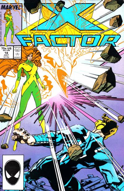 Cover for X-Factor (Marvel, 1986 series) #18 [Newsstand Edition]