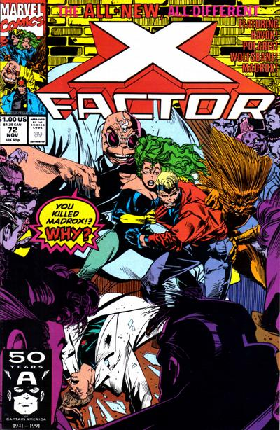 Cover for X-Factor (Marvel, 1986 series) #72 [Direct Edition]