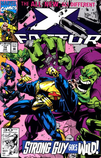 Cover for X-Factor (Marvel, 1986 series) #74 [Direct Edition]