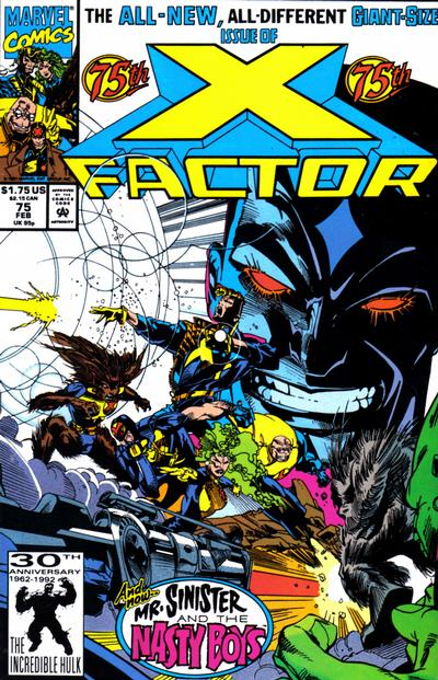 Cover for X-Factor (Marvel, 1986 series) #75 [Direct Edition]