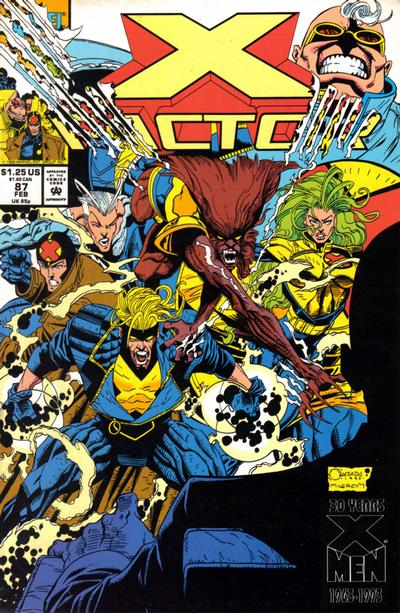 Cover for X-Factor (Marvel, 1986 series) #87 [Direct Edition]