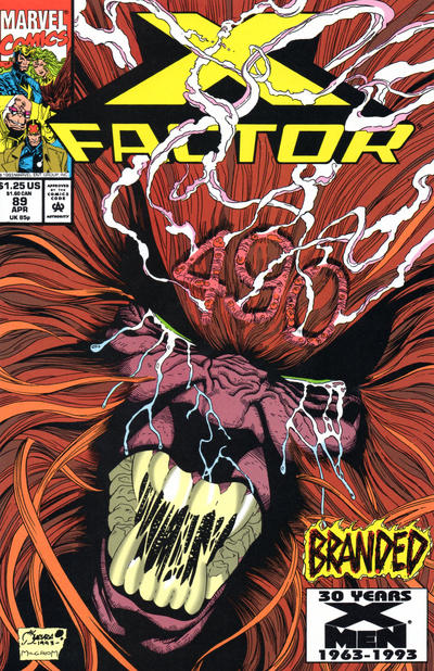 Cover for X-Factor (Marvel, 1986 series) #89 [Direct Edition]