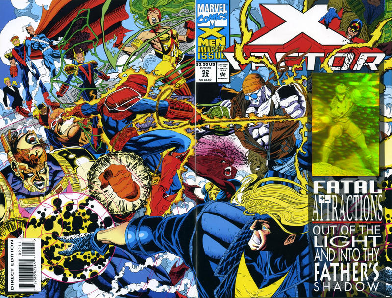 Cover for X-Factor (Marvel, 1986 series) #92 [Direct Edition]