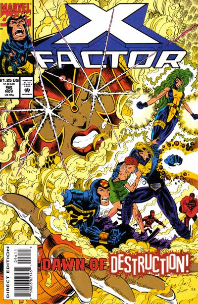 Cover for X-Factor (Marvel, 1986 series) #96 [Direct Edition]
