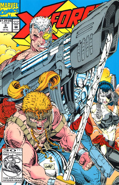 Cover for X-Force (Marvel, 1991 series) #9 [Newsstand]