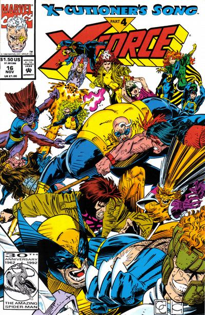 Cover for X-Force (Marvel, 1991 series) #16 [Newsstand]