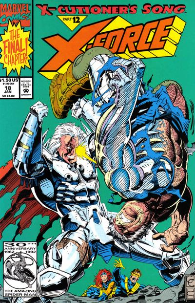 Cover for X-Force (Marvel, 1991 series) #18 [Newsstand]