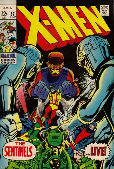 Cover for The X-Men (Marvel, 1963 series) #57