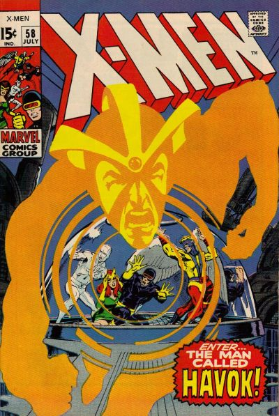 Cover for The X-Men (Marvel, 1963 series) #58