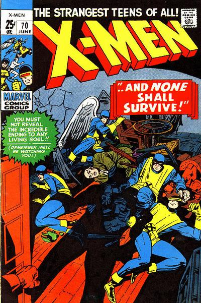 Cover for The X-Men (Marvel, 1963 series) #70