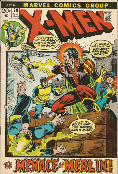 Cover for The X-Men (Marvel, 1963 series) #78
