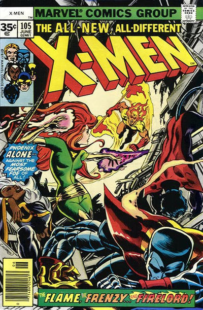 Cover for The X-Men (Marvel, 1963 series) #105 [35 cent cover price variant]