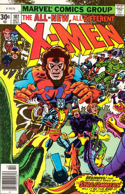 Cover for The X-Men (Marvel, 1963 series) #107