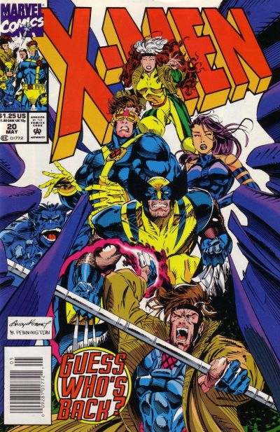 Cover for X-Men (Marvel, 1991 series) #20 [Direct Edition]