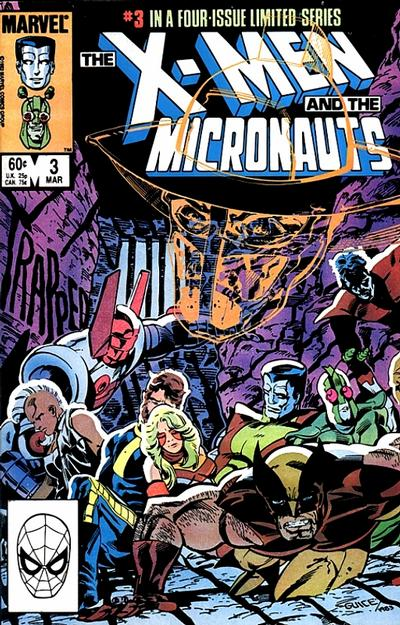 Cover for The X-Men and the Micronauts (Marvel, 1984 series) #3 [Direct Edition]
