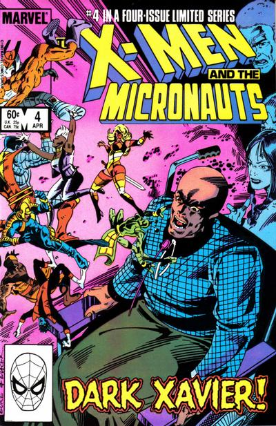 Cover for The X-Men and the Micronauts (Marvel, 1984 series) #4 [Newsstand Edition]