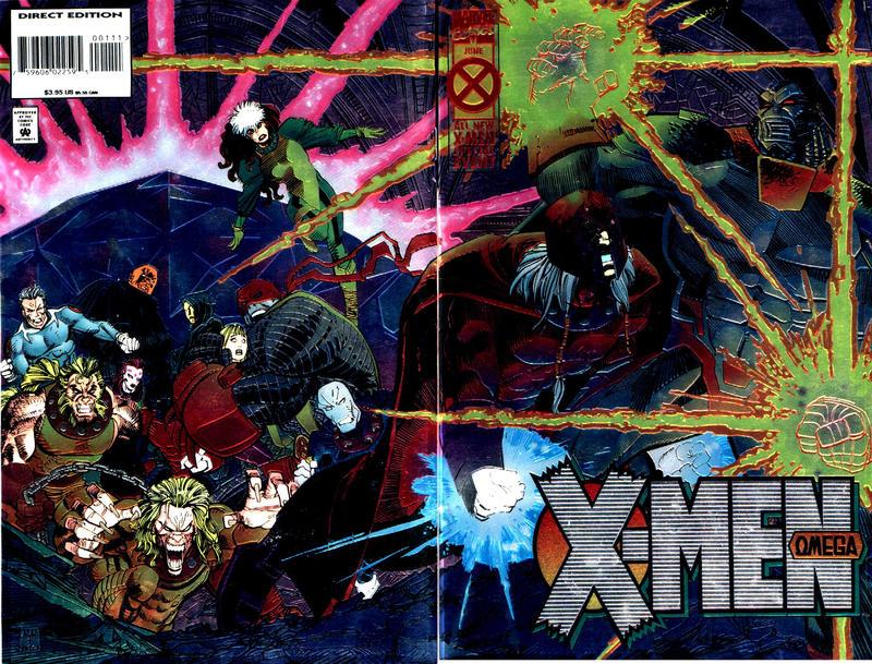 Cover for X-Men Omega (Marvel, 1995 series)  [Gold Variant]