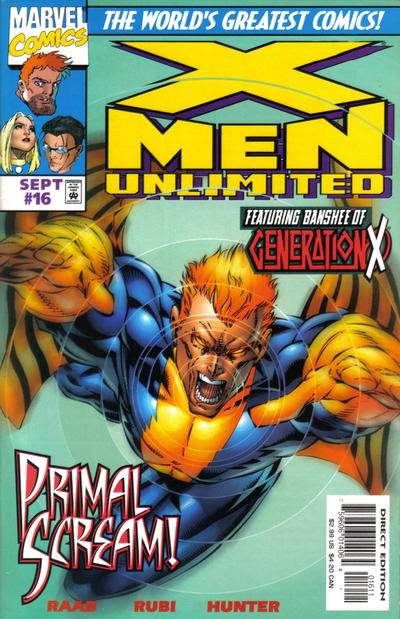 Cover for X-Men Unlimited (Marvel, 1993 series) #16 [Direct Edition]