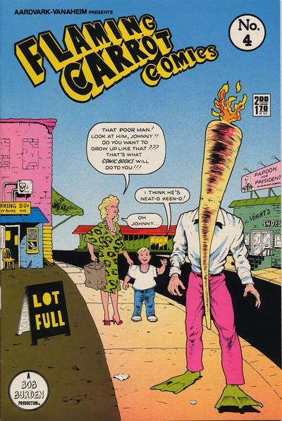 Cover for Flaming Carrot Comics (Aardvark-Vanaheim, 1984 series) #4