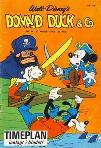 Cover for Donald Duck & Co (Hjemmet / Egmont, 1948 series) #34/1968