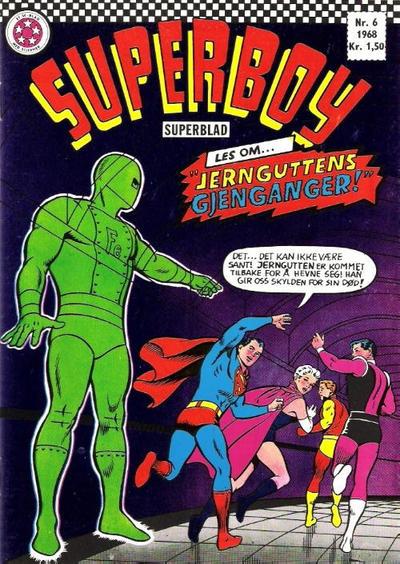 Cover for Superboy (Serieforlaget / Se-Bladene / Stabenfeldt, 1967 series) #6/1968
