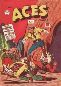 Cover Thumbnail for Three Aces Comics (Anglo-American Publishing Company Limited, 1941 series) #54
