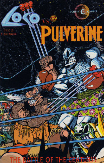 Cover for Loco vs. Pulverine (Eclipse, 1992 series)