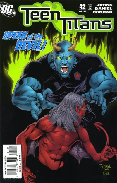 Cover for Teen Titans (DC, 2003 series) #42 [Newsstand]