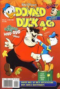 Cover Thumbnail for Donald Duck & Co (Hjemmet / Egmont, 1948 series) #45/2001