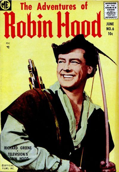 Cover for The Adventures of Robin Hood (Magazine Enterprises, 1957 series) #6