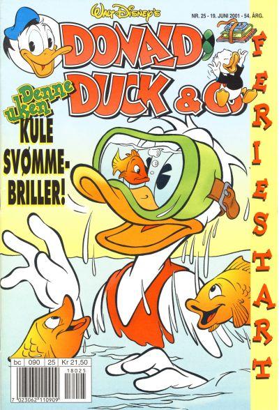 Cover for Donald Duck & Co (Hjemmet / Egmont, 1948 series) #25/2001