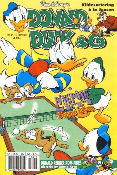 Cover for Donald Duck & Co (Hjemmet / Egmont, 1948 series) #37/2001