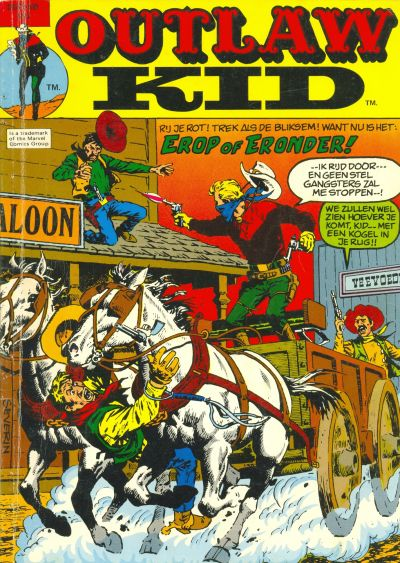 Cover for Outlaw Kid Album (Classics/Williams, 1975 series) #2