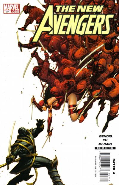 Cover for New Avengers (Marvel, 2005 series) #27 [Yu Variant Edition Cover]