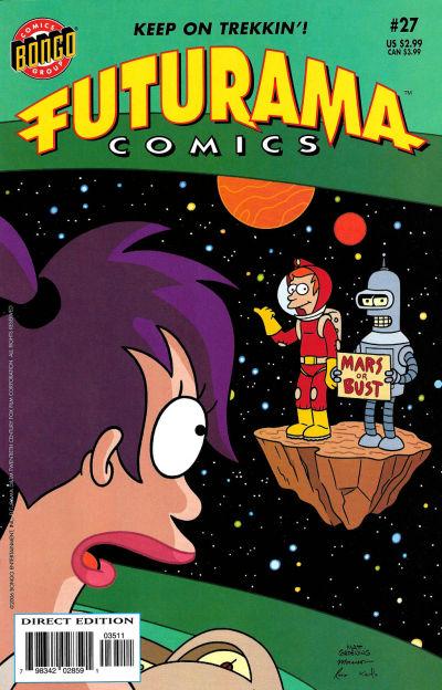 Cover for Bongo Comics Presents Futurama Comics (Bongo, 2000 series) #27 [Direct Edition]