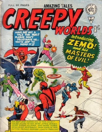 Cover for Creepy Worlds (Alan Class, 1962 series) #67