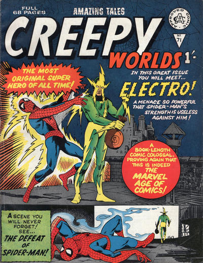 Cover for Creepy Worlds (Alan Class, 1962 series) #71