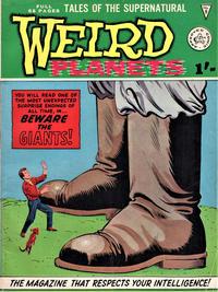Cover Thumbnail for Weird Planets (Alan Class, 1962 series) #9