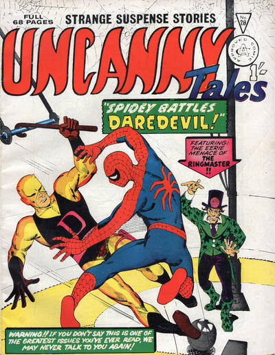 Cover for Uncanny Tales (Alan Class, 1963 series) #28