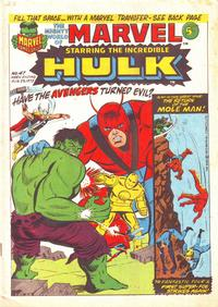 Cover Thumbnail for The Mighty World of Marvel (Marvel UK, 1972 series) #47